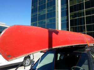 bcoutdoor canoe on car