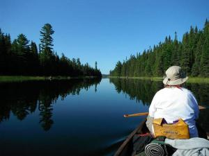 jake2011 canoe mirror image on lake