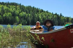 paddle in with child