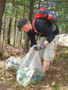 two4adventure picking up litter