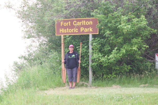 Fort Carlton was one of our favourite stops. There is a boat launch making it accessible by river. Great for exploring paddlers like us!